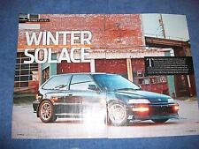 1990 Honda Civic SIr Original Article 'Winter Solace'