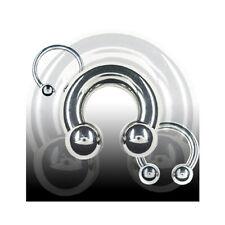 1,6mm Hufeisen Piercing Circular Barbell Lippe Ohr Intim Brust Piercing