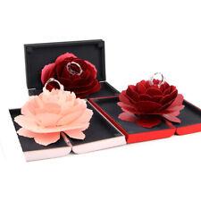 3D Pop Up Rose Ring Box Wedding Engagement Jewelry Storage Holder Case Bump