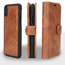 Genuine Leather Wallet Card Holder Flip Stand Case iPhone X & 8/7/6 Plus Samsung