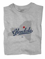 Glendale New York NY T-Shirt MAP