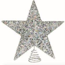 Multi Style 11 Inch Christmas Tree Star LED Topper New Free Ship Glitter Xmas