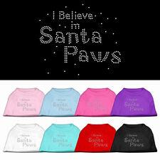IO credo nella santa Paws Cane/Cucciolo Natale TEE TAGLIE XS A XXXL cane piccolo