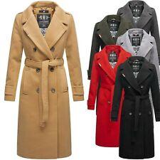 Navahoo Damen Mantel Trenchcoat Herbst Winter Jacke Business Parka Lang Arnaa