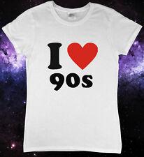 I Love 1990s 90s Party Fancy Dress Ladies T-Shirt