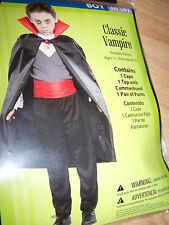 Boy's Size Medium 8 Vampire Halloween Costume Cape Top Pants New
