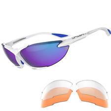 Daisan Radbrille Fahrradbrille mit Wechselscheiben - verspiegelt 100% UV Schutz