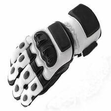 Wlanco/gris claro Cuero Moto motocicleta impermeables guantes ES