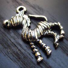 Zebra Wholesale Silver Plated Charm Pendants C4471 - 5PCs, 10PCs Or 20PCs