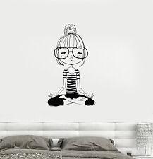 Vinyl Decal Yoga Meditation Teen Girl Room Zen Wall Stickers Mural (ig3276)