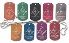 Masonic Personalised Warfarin User Medical Alert ID SOS Pendant (Z1000)
