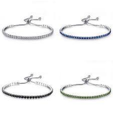 Women Fashion Charm Rhinestone Crystal Bracelet Adjustable Bangle Jewelry Gift
