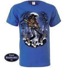 T-Shirt blu reale Gotico Tatuaggio motivo Greaser & rockabilly Modello Guitarmen
