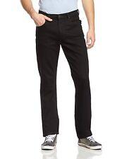 NEU Lee Brooklyn Herren Gerades Bein Stretch Jeans CLEAN BLACK Regular Denim Hose