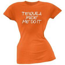 Cinco de Mayo - Tequila Made Me Do It Orange Soft Juniors T-Shirt