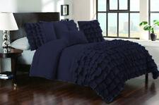 1 Piece Half Ruffle Emperor Size Duvet Cover 800 TC 100% Egyptian Cotton