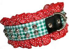 Gingham Carreaux polka dot points volants rivets collier de chien rivets Collier