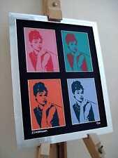 AUDREY HEPBURN LTD EDITION SIGNED POP ART CANVAS