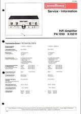 Nordmende Original Service Manual für  PA 1050