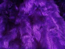 Plain Fun Faux Fur Fabric Material PURPLE