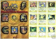 POKEMON CLASSEUR JEUX OLYMPIQUES 2000 9 Cartes PIKACHU