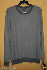 Lincs charcoal gray men's pullover sweater crew neck diamond weave top 2XL $125