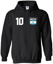 Threadrock Men's Team Argentina Soccer Hoodie Sweatshirt football