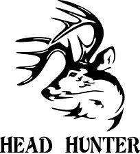 Tribal Deer Head Hunter Gun Bow Hunting Car Truck Window Vinyl Decal Sticker