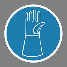 Handschuhe benutzen Aufkleber Sticker Schild Hinweis Verbotsschild