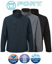 QUALITY Mens Winter WORK PLAY Jacket SOFTSHELL Waterproof Windproof Fleece Lined