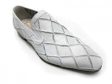 Men's Italian Slip On Carlos Ventura Dressy Shoes 1676 Black/White