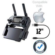 "12"" [1ft] lightning iPhone USB PVC Cable for Drone DJI Mavic Pro Phantom Inspire"