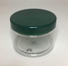 Tarro Vacío 150ml Plástico Transparente Con Tornillo Plástico Verde en la tapa. Calidad Jarra & Tapa
