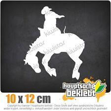 KIWISTAR Cowboy avec cheval Rodéo 2 csf0995 10 x 12 cm Autocollant