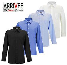 ARRIVEE Klassisches Hemd Übergröße Hemden 3XL - 6XL Schwarz Weiß Kentkragen