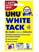 UHU WHITE TACK 33% FREE/BOSTIK BLUE TACK  Packet Re-usable Adhesive Putty UK P&P