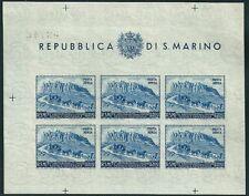 ** San Marino 1951: Foglietto UPU Non Dentellato [Lire 200; Tir. 6.000] Rarità