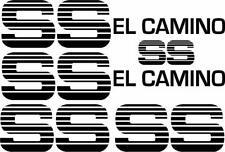 Chevy El Camino SS Super Sport Replica Vinyl Decal Sticker Kit Choo Choo Custom