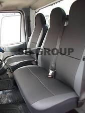 Vw Transporter T5 2008 van cubierta de asiento-negro de cuero de recorte de 1 solo 1 Doble