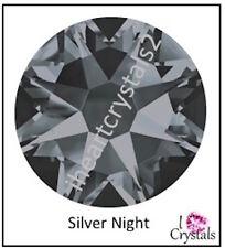 SILVER NIGHT Swarovski Crystal Flatback Rhinestones 5ss 7ss 9ss 12ss 16ss 20ss