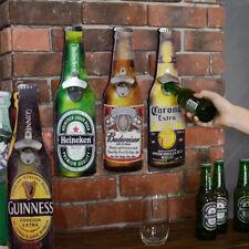Wall Mount Beer Bottle Shaped Bottle Opener Cafe Restaurant Bar mural Budweiser
