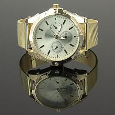 Producto B Reloj De Mujer Oro damas acero inoxidable Milanesa Pulsera u1387