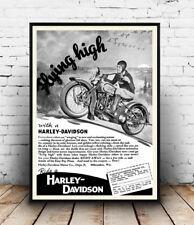 Harley Davidson, periódico viejo Publicidad reproducción Poster, Arte De Pared.