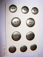 """Metal Coat SUIT BUTTON SET 2 Hole  5/8'-3/4""""  brushed antique silver 12 PC"""