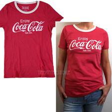 Junk Food Enjoy Coca Cola Vintage Logo Ringer the Retro T-shirt Soft Fine Jersey