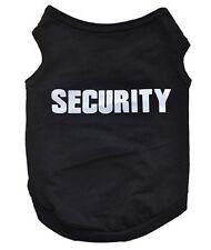 """Accessoire animaux : vêtement t-shirt costume pour chien , """" Security """" noir"""