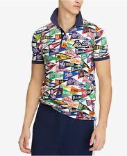 "Polo Ralph Lauren ""ART DECO"" Pennant Motif Polo Bears USA Mesh S/S Polo Shirt"