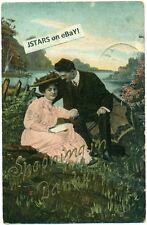 c. 1907 DANBURY, IA, SPOONING IN DANBURY ROMANCE POSTCARD
