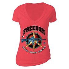Freedom Power USA Vet T-shirt 2nd Amendment Rifle sniper AK47 MR AR15 USA Tshirt