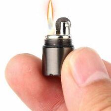 Lighter Petrol Metal Compact Mini Fuel Kerosene Capsule Torch Keychain Keyring